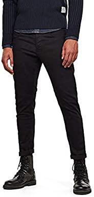 G-STAR RAW 男士 3301 修身牛仔裤 Black (Rinsed 082) 27W / 32L