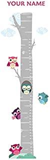 Oliver's Labels 猫头鹰在树上个性化生长图墙贴 儿童房