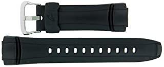 Casio 10144012 原厂 Casio 替换装黑色橡胶表带适合 G-7300-1V G-7301G-9V