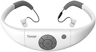 IPX8 防水 MP3 播放器 8GB 游泳耳机带蓝牙 FM APP,水下可工作 6-8 小时 3 米 - 白色