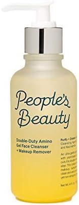 People's Beauty 双效氨基酸洁面乳 + 卸妆液 | 一步式每日凝胶泡沫洁面乳,含水杨酸和植物基氨基酸 – 温和净化、保湿并减少毛孔 – 4 盎司 | 12
