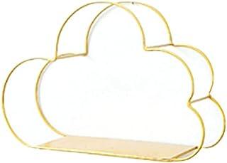 YPCC 风格壁挂式锻铁挂钩展示架云形卧室装饰储物架,F