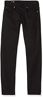 G-STAR RAW 男式 3301 修身牛仔裤,29W / 34L,Black (Rinsed 082)