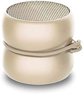 超紧凑的迷你蓝牙扬声器 - Xoopar Yoyo扬声器 - 功能强大的3瓦扬声器 - Nomadic 扬声器 4小时自动机功能 - 扬声器规格 3厘米(金色,单声道)