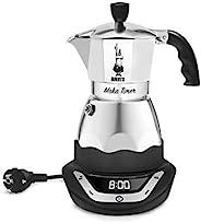 Bialetti 比乐蒂 0006093 Easy Timer 电动咖啡壶,适用于6杯,不锈钢,黑色/灰色