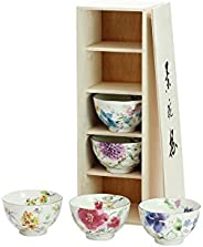 Ceramic Ai Floral watercolor rice bowls aligned 01802