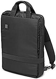 Moleskine 竖款电子设备包 ID 立式背包(适用于15英寸笔记本电脑和平板电脑,防水,适用于办公室和工作,尺寸30 x 38 x 10厘米),黑色