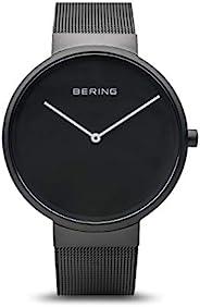 BERING Time | 中性款超薄手表 14539-122 | 39 毫米表壳 | 经典系列 | 不锈钢表带 | 防刮蓝宝石水晶 | 极简 - 丹麦设计