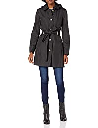 Calvin Klein 女式前扣腰带风衣