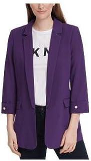 DKNY 前开式西装外套紫红色12