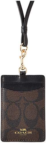 COACH 蔻驰 Signature系列 证件夹 卡片夹 男士 金色/棕色/黑色 63274-1