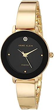 Anne Klein 安妮克莱因 女士真皮钻石表盘手镯手表 AK/3566