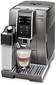 De'Longhi 德龙 Dinamica Plus 全自动咖啡机 ECAM 370.95.T 带奶泡系统,一键式制备卡布奇诺/意式浓缩,3.5英寸TFT触摸屏彩色显示器/App控制,咖啡煮壶功