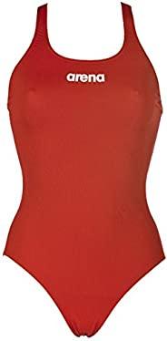 arena 女式運動泳衣 Solid Swim Pro(速干,防紫外線 UPF 50+,耐氯)
