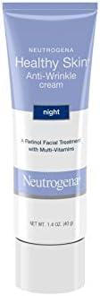 Neutrogena 露得清 健康肌肤 含有维生素E和维生素B5的抗皱视黄醇霜 - 夜间保湿霜,含有视黄醇,维生素E,维生素B5,甘油,1.4盎司(40g)
