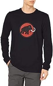 Mammut 猛犸象 男士标志长袖,黑色,M
