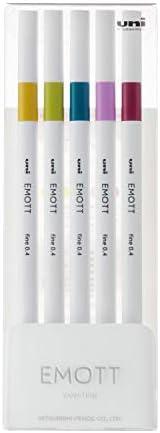 三菱铅笔 水性笔 EMOTT 5色 NO.8 PEMSY5C.NO8