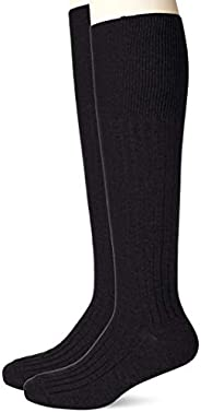 ATSUGI 厚木 商务袜子 Work FIT 绅士 6×2 罗纹 高筒袜 2双装 长袜 男士