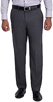 Haggar H26 男式高级弹力经典修身正装裤 - (炭黑色,36W x 30L)