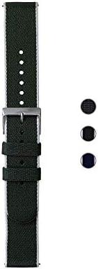 Withings 再生编织 PET 腕带,适用于 Steel HR、Steel HR 运动、移动心电、移动、钢和 ScanWatch