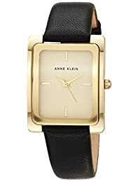 ANNE KLEIN AK / 2706CHBK 女士腕表,黑色/金色,均码