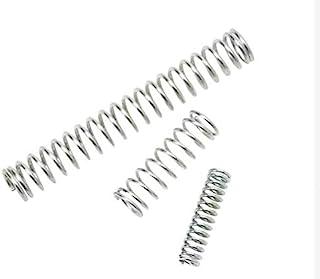 CREEYA 压缩弹簧 20 件 304 不锈钢压力延长弹簧线直径 0.5 毫米,外径 3 毫米 5 毫米 6 毫米,长度 10 毫米 20 毫米 40 毫米,多用途(尺寸:0.5 x 5 x 40 毫米)