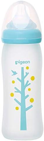 Pigeon 贝亲 宽口径玻璃奶瓶 0个月可用 自然实感 耐热玻璃240ml 大树