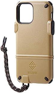 Elecom 宜丽客 iPhone 12 / 12 Pro 手机壳 混合 NESTOUT 棕色 PM-A20BNEST1BR