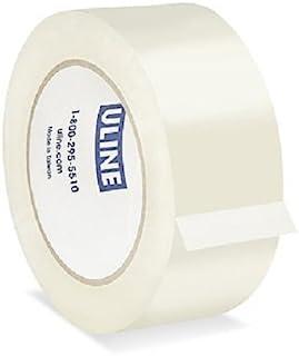 Uline 工业装运包装密封胶带,5.08 厘米 x 147.18 厘米,2百万,透明水晶,6 卷 (S-200) 总重 990 英尺*佳质量胶带