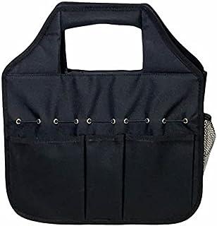 MAKE ROOM FOR LIFE - Stuff 'N Go 邮差式手提包,宽敞的主隔层,包括可调节肩带,18 个口袋,磁性封口,工具,方便活动,13 x 14 英寸(约 33.0 x 35.56 厘米),黑色