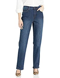 Gloria Vanderbilt Women's Petite Amanda-Classic Straight Leg Jean in Short Length, Scottsdale Wash, 12P