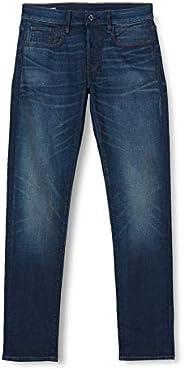 G-Star RAW 男士 3307 修身牛仔裤 Blau (Vintage Dk Aged A088-4442) 27W / 32L