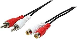 LogiLink CA1038 10.0m 2 根电缆公接头 到 2 根电缆母式音频电缆