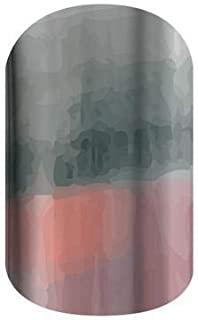 匿名   Jamberry *贴   粉色和灰色缎面*贴花设计   趣味时尚美甲贴纸 适用于美甲艺术(半片纸 - 1 个美甲/1 个修脚)