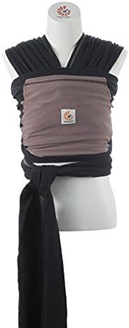 美国Ergobaby包裹式婴儿背巾-黑色/灰褐色WRPBLKTPNL