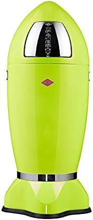 Wesco Spaceboy - 德国制造 - XL 码推门垃圾桶,粉末涂层钢 柠檬绿 Measures 14.76 inch length, 14.76 inch width, 27.1 138-631-20
