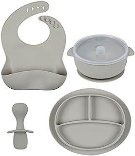 硅胶幼儿餐盘汽车,分隔婴儿餐垫带吸盘,适用于儿童婴儿和儿童,可用洗碗机清洗