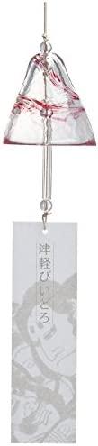 ADERIA 津轻玻璃 风铃 粉色 最大约7.5×高约7.6厘米 流动的樱花 1个装 日本制造 F71182