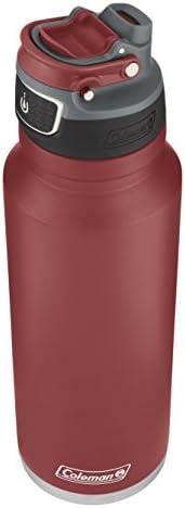 coleman freeflow 汽車水瓶 40oz Heritage 紅色不銹鋼運動