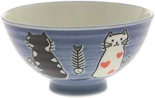两个相同风格的日本寿寿糯猫饭碗装在同一盒中(蓝色 #130-636)