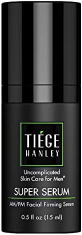 Tiege Hanley 男士早晚面部紧致精华液(UPER SERUM)  透明质酸钠和棕榈酸视黄醇,紧致、更平滑肌肤   0.5 液盎司