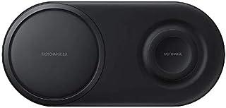 Samsung 三星 Original Duo Pad无线快速充电器,适用于Qi激活设备,黑色