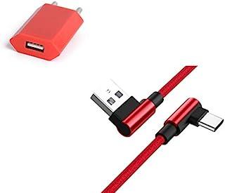 三星 Galaxy Buds Type C 智能手机套装(90 度快速充电 + 彩色电源插头)(红色)