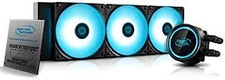 DeepCool Gammaxx L360 RGB V2 冷却系统,360 毫米散热器 RGB SYNC 12 伏 4 针兼容 Intel 115X / 2066 和 AMD AM4