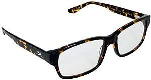 HyperX Spectre * 1 版 - 游戏眼镜,蓝光眼镜,防紫外线,耐用醋酸纤维框架,水晶透明镜片,超细纤维袋,硬壳盒,方形眼镜框 - 多错