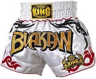 Top King Muay 泰拳短裤颜色:黑色红色 蓝色 * 黄色 白色 银色 金色 粉色 尺码 S M L XL 复古和普通风格 缎面 拳击短裤 拳击 MMA K1