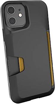 Silk Smartish Apple iPhone 12/12 Pro(6.1 英寸)錢包式手機殼 - Wallet Slayer Vol. 1 [纖薄 + 保護] 信用卡夾(絲綢) - 黑色領帶