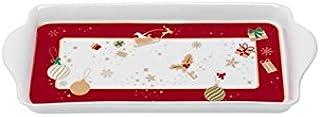 Brandani 53035 Alleluia 小托盘,瓷器,红色和白色