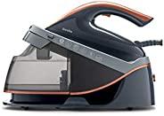Breville PRESSXPRESS 2600W 熨斗,带蒸汽锅,多向陶瓷底,蒸汽喷射245克,垂直蒸汽喷射115克/分钟,压力6巴,PerfectTEMP 技术,黑色