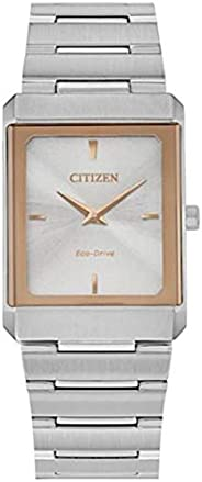 Citizen 西铁城 EG6016-58A 中性款细高跟光动能银色表盘手表